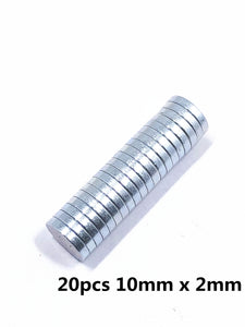 Lodestone Magnet Magnetic Steel Nd-Fe-B Small Round N35 Neodymium Magnet Super Strong Magnetic Magnetite Rare Earth Permanent Magnet(3/4/5/6/8/10/12 x 2mm)