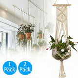 1/2PCS Pot Holder Macrame Plant Hanger Hanging Planter Basket Jute Rope Braided Craft