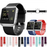 Replacement Wrist Band Silicone Sports Strap + Spring Bars For Fitbit Blaze Smart Watch