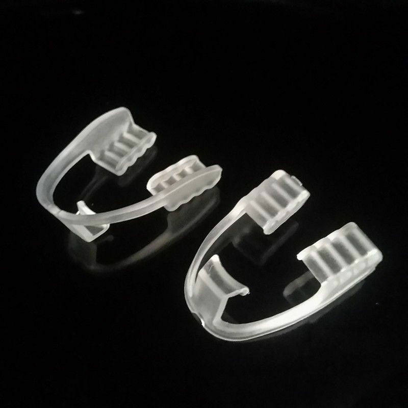 2pcs/Set Dental Mouth Guard Bruxism Splint Teeth Grinding Sleep Aid Braces Tool