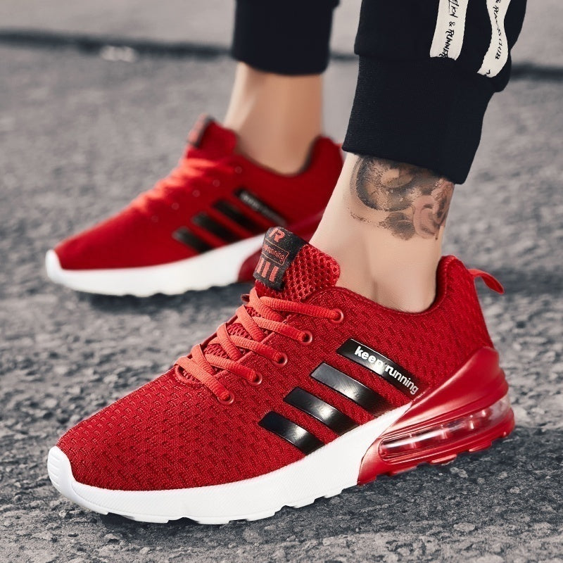 New Fashion Mens Air Cushion Sneakers Jogging Sneakers Breathable Sport Running Shoes Outdoor Casual Walking Shoes Size 39-46
