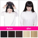 Fashion Women Hair Toppers Soft Straight Clip in Hair Extensions New Style Wigs With Hair Bangs