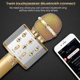 Handheld Wireless Bluetooth Microphone KTV Karaoke Mic Phone Microphone with Speaker for Smart Phone Computer Karaoke KTV Party