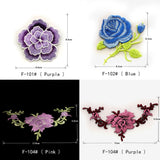 DIY Flower Applique Embroidered Patch Iron on Patch Sew on Patch for Jeans Clothing