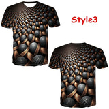 Fashion 3d Print Geometry T-shirt Cool Hip Hop Tees