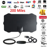 200 Mile Range Antenna TV Digital HD Skywire 4K Antena Digital Indoor HDTV 1080P with Signal Amplifier