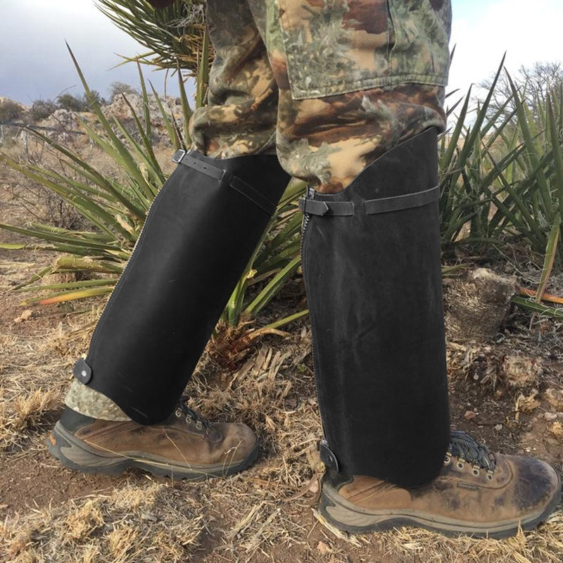 Leather Snake Gaiters Brush Gaiters Hiking Gaiters Half Chaps Snake Protection Hunting Gaiters Leg Protection Knee Length Chaps Boots Gaiter