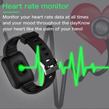 Smart waterproof watch bluetooth sports watch heart rate oxygen pressure sleep monitor blood pressure pas alarm clock watch wearable device for men and women children