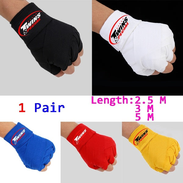 New Twins Sports Boxing Fist Inner Handwraps Padded Bandages Boxing Wrist Protective Bandages(1 Pair)