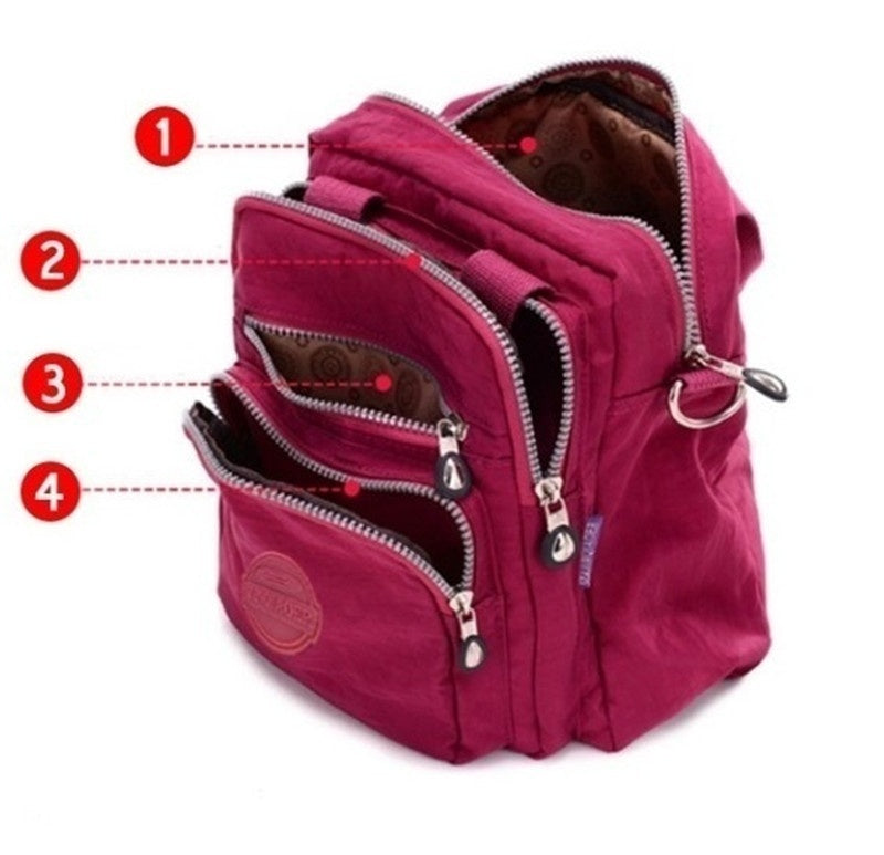 Vintage Casual Canvas Backpack Waterproof Nylon Shoulder Bag Wild Multi-function Handbag Backpack Canvas Oxford Cloth Bag