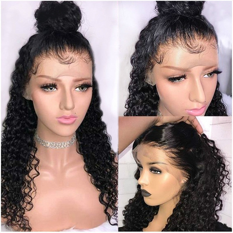 Peruvian Curly Human Hair Wig Glueless Lace Front Human Hair Wig with Baby Hair Pre Plucked Remy Hair