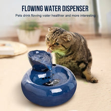 Load image into Gallery viewer, Leaf Porcelain Automatic Circulating Water Dispenser Pet Water Lotus Fountain Pet Supplies