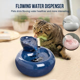 Leaf Porcelain Automatic Circulating Water Dispenser Pet Water Lotus Fountain Pet Supplies