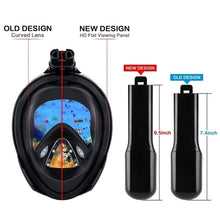 Load image into Gallery viewer, 2019 New  6 Colors High Quality Child Adult Silicone Diving Mirror Anti Fog Detachable Dry Snorkeling Full Face Mask Set Scuba Diving Mask