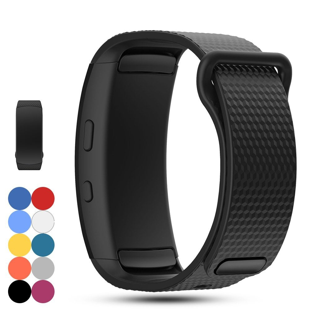 YAYUU Soft Silicone Replacement Accessories Strap Watchband Replacement for Samsung Gear Fit 2 Pro/Fit 2/Fit 2 Pro SM-R365/Fit 2 SM-R360 Sports Fitness Smart Watch S/L