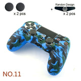 Data Frog Soft Silicone Gel Rubber Case Cover For Playstation 4 PS4 slim Controller Protection Case For PS4 Pro Slim Gamepad with 2X Silicone Grip Cap