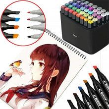 Load image into Gallery viewer, 12/18/24/30/40/48/60/80 Colors Starting school Artist Dual Head Copic Markers Set School Drawing Sketch Oily Amine Design Designer