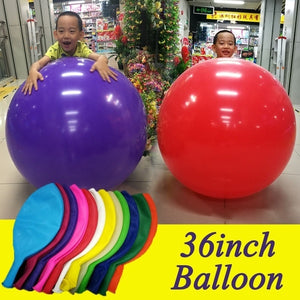 1pc 36 Inch 90cm Balloon Big Size Latex Balloons Wedding Decoration Inflatable Helium Air Balls Birthday Party Balloons
