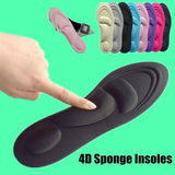 4D Orthotic Arch Support Unisex Insoles Sport Comfort Shoe Shock Absorb Gel Heel New 1 Pair