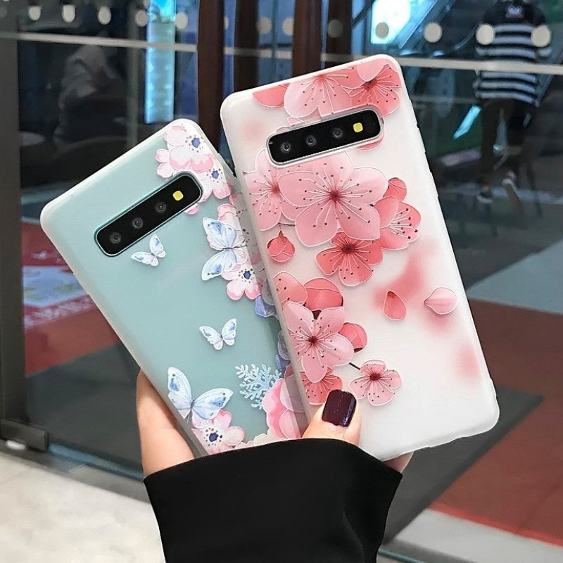 3D Embossed Flowers Pattern Soft Silicone Phone Case Cover For Samsung Galaxy S20 Ultra S20 Plus S20 S10Plus S10 S10e S9Plus S9 S8Plus S8 Note10 Plus Note10 For iPhone 11 Pro Max 11Pro 11 XsMax Xs Xr X For Huawei P30 P30Lite P30Pro Mate20Pro Etc