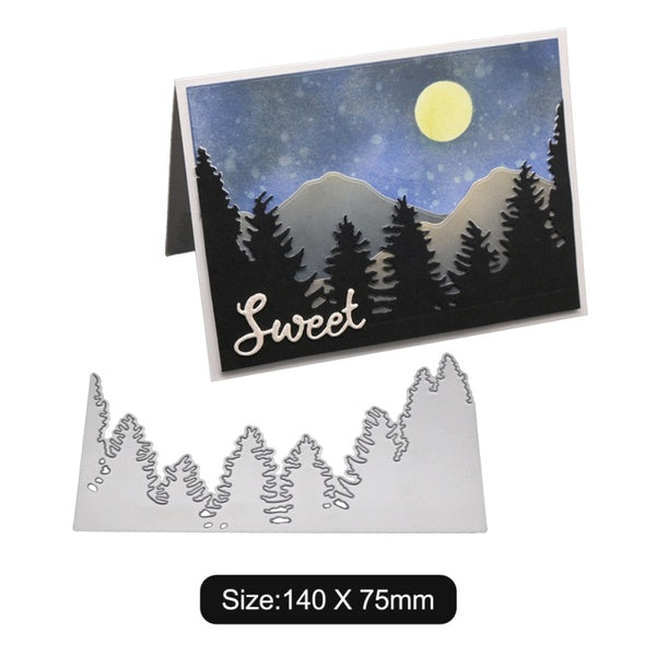 DIY Scrapbooking Christmas Tree Forest Pattern Etch Carbon Steel Cutting Dies for Scrapbooking Card Album Making