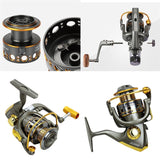 Front and Rear Drag System Freshwater Spinning Reel For Carp Fishing Reel Metal Line Cup Fishing Ree