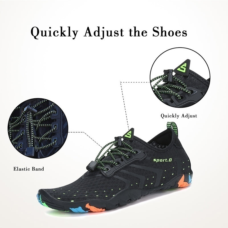 New Design Couple Summer Outdoor Sports Diving Upstream Shoes Skin Quick-drying Beach Shoes Yoga Sports Pool Beach Shoes
