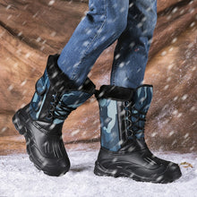 Load image into Gallery viewer, New Men Plus Velvet Outdoor Fishing Boots Winter Hunting Hiking Trekking Boots for Male Waterproof Wear Resistant Boots