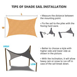 3 Shapes Sun Shade Sail Waterproof 300D Oxford Polyester Outdoor Garden Yard Plant Protection Canopy Cover Awning