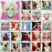 Load image into Gallery viewer, Fashion beauty  Marilyn Monroe  pillow cases  double sides pattern pillowcases cover square Pillow case pillow covers size 45cm*45cm