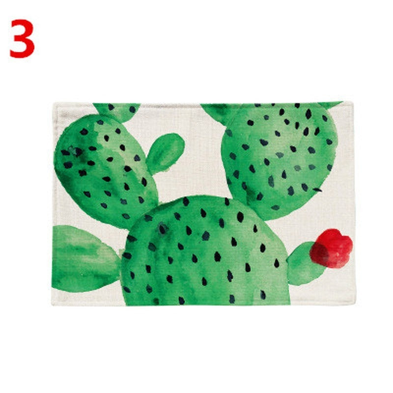 Tropical Plant Cactus Pattern Table Mat Table Napkin for Wedding Table Placemat Dining Accessories Kitchen Decoration