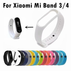 Applicable for xiaomi bracelet 3 4 TPU monochrome replacement wristband