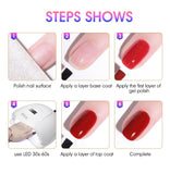 2019 New 5 ML Nail Gel Polish For Manicure UV LED 60 Colors Nail Varnish Hybrid Semi Permanent Gel Lacquer Nail Art Design Tools