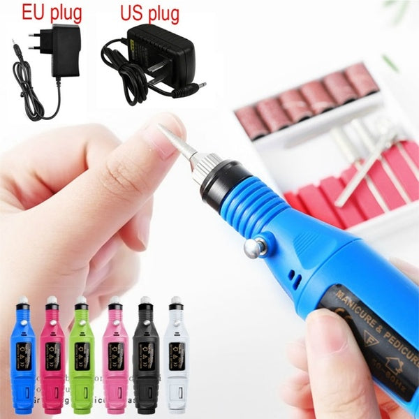 Electric Nail Drill Machine Polish Grinding Nail Art Manicure Tool Exfoliating Professional Nail Art