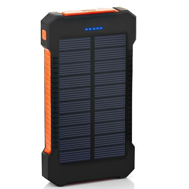 Top Solar Power Bank Waterproof 900000mAh for Xiaomi Smartphone with LED Light Solar Charger USB Powerbank Ports for Iphone 8 X