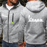 Men Sports Casual Wear Zipper Fashion Tide Jacquard Hoodies Printed Vespa Fleece Jacket Fall Sweatshirts Autumn Winter Coat