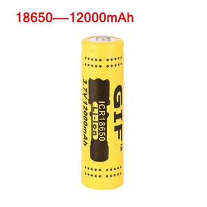 HOT! 18650 3.7V 12000mAh Capacity Rechargeable Li-ion Battery LED Flashlight Torch Power Bank batteries