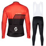 Top Scott Cycing Jersey Long Sleeves Bib Pants Ropa Ciclismo Bike Bicycle Cycling Clothing Mtb Riding Sports Suit Jersey Combinaison De Sports D'¨¦quitation VTT