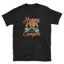 Load image into Gallery viewer, (US Size) Women's Fashion Summer Happy Camper Picture Printed T Shirt Summer Casual Short Sleeve Tee Shirt Loose Cotton Shirts Plus Size XS-5XL