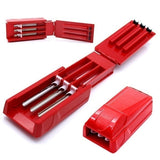 New Manual Triple Tobacco Cigarette Tube Injector Roller Maker Cigarette Rolling Machine Tools( random color )