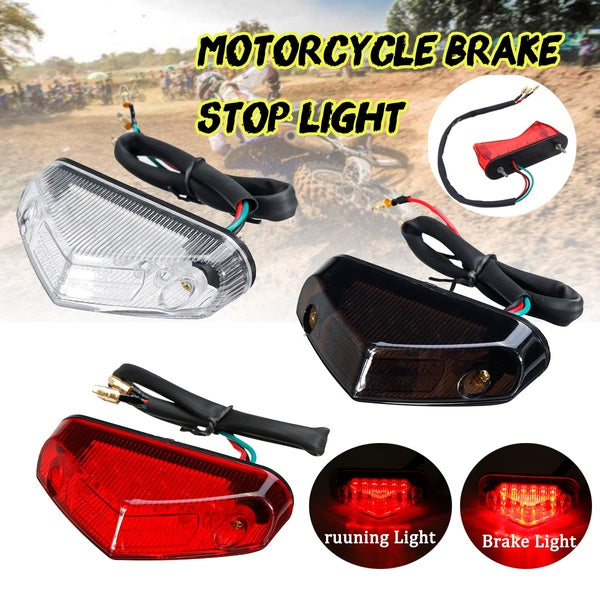 Universal DC12V RED 12LED Motorcycle ATV Dirt Bike Brake Stop Running Tail Light