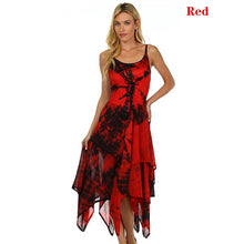 Load image into Gallery viewer, Robe Femme Plus Size Sleeveless Dresses Summer Women Lace Up Irregular Dresses Printed Tunic Sling Dresses