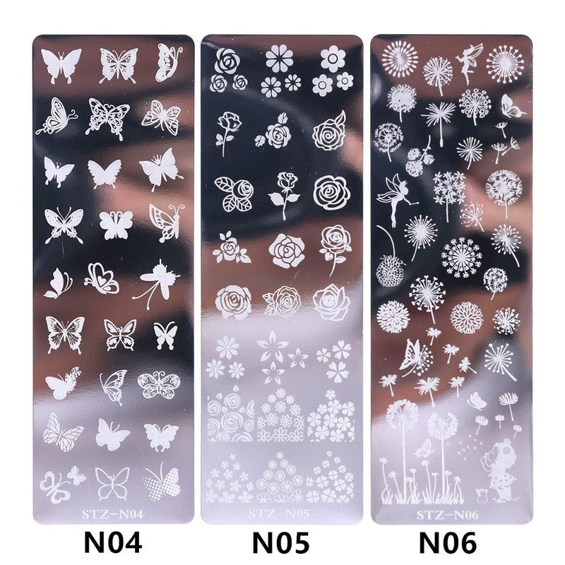 1pcs Nail Art Stamp Nail Stamping Template Flower Geometry Animals DIY Nail Designs Manicure Image Plate Stencil Nail Sticker Decals