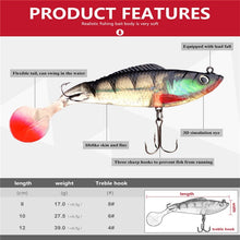 Load image into Gallery viewer, FTK 5PCS Lead Jig Soft Lure For Pike Muskie Bass Minnow Lure With Treble Hook