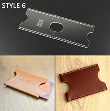 Load image into Gallery viewer, 9 STYLE Hand-made Leather Template Diy Acrylic Model Tool