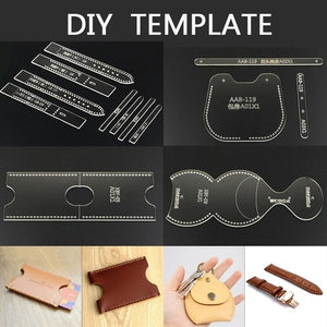 9 STYLE Hand-made Leather Template Diy Acrylic Model Tool