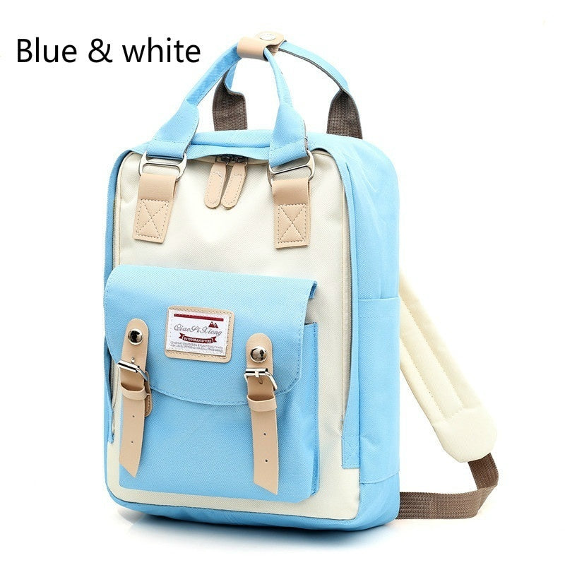 New Ladies Backpack Large Capacity Student Bag USB Charging Waterproof Travel Backpack for Women Girls