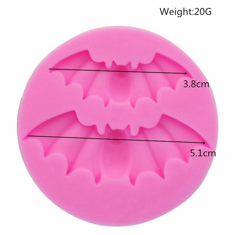 1Pcs Silicone Halloween Skull Pumpkin Scary Haunted Bats Mould  Cake Icing Decoration Mold