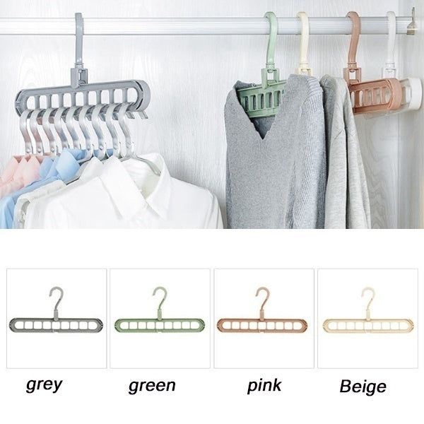 1/3/5 PC Multi-port Support Circle Clothes Hanger Clothes Drying Rack Multifunction Plastic Scarf Clothes Hangers Hangers Storage Racks