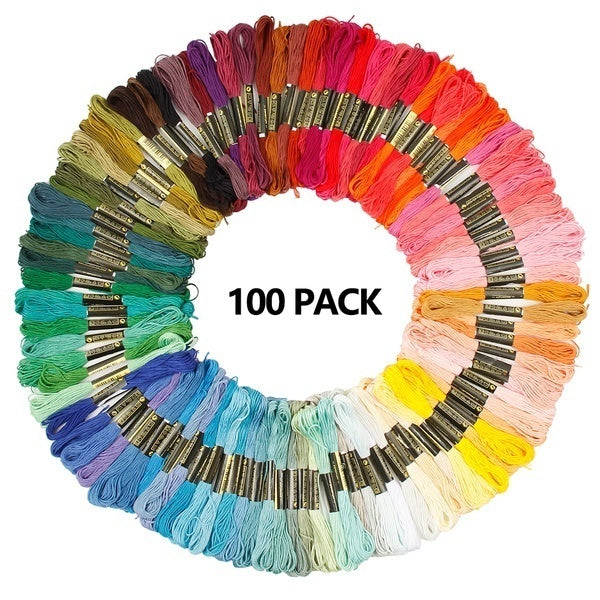 100/450Pcs Cotton DMC Multi Colors Cross Floss Stitch Thread Embroidery Sewing Skeins Home Arts & Crafts Art Accessories